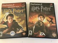 PS2 Lot 2 Harry Potter Chamber of Secrets, Goblet of Fire w/ Manuals NICE!