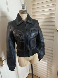 Leather Bomber Jacket Size 10 Brand New Without Tags