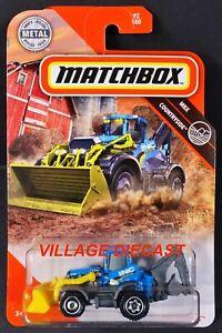 2020 Matchbox #92 MBX Backhoe™ BLUE / YELLOW / INC CONSTRUCTION / MOC