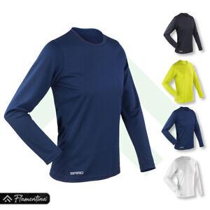 Spiro Womens Quick-Dry Long Sleeve T-Shirt Gym Top Cycling Running Jogging Sport