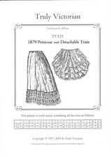 Sewing Pattern for Truly Victorian 1879 petticoat with detachable train TV125