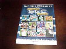 2003 SEC Championship Women's Tennis Media Guide