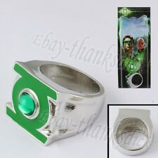 Super Hero Green Lantern Logo 2.2cm Metal Finger Ring Cosplay New In Box #1