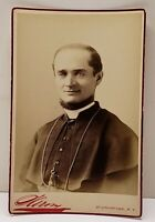 Antique Victorian Religious Priest Clergy by Sarony of NY Cabinet Photo Card