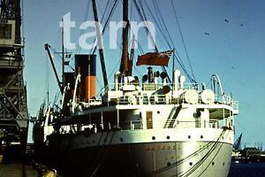 40 x 40 mm glass slide Ship Arundel Castle  c1950s/60s r111