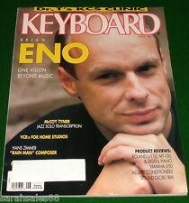 1989 Keyboard Magazine Brian Eno, McCoy Tyner Coltrane Tribute Yamaha V50 Review