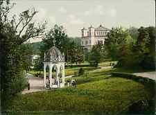 Böhmen. Marienbad. Ambrosiusbrunnen. PZ vintage photochromie, photochrom photo