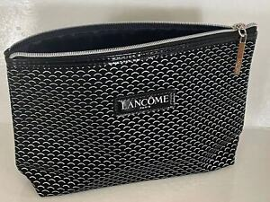 New Lancome Cosmetic Makeup Bag pouch sliver & black limited