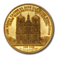 Germany Regensburg Cathedral Medal Perspective Views Exemplary Detail Cleaned