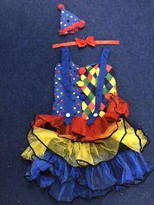 Fun Shack Colourful Harlequin Clown Jester Costume Fancy Dress S
