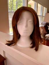"JON RENAU Lace Front Wig, Mono Top, ""Emilia"" Brown w/ Red-Gold Blonde Highlights"