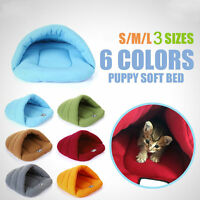 Pet Cozy Cave Crate Warm Bed House Sleeping Plush Soft Mat Cat Dog Nest Pad Bag