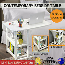 Bedside Laptop Table Sofa Bed Side Living Room Over Coffee Books Magazine Holder