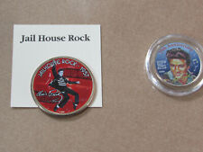 Lot of 2 Elvis colorized coins. Half dollar Jailhouse Rock and 25th Anniversary