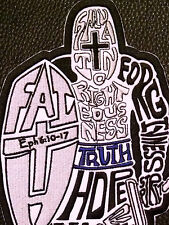 Full Armor of God Made of Words Knight Sword Christian Back Patch Free Shipping