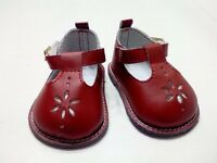"Doll Clothes 18"" Shoes Red Mary Jane Fits American Girl Dolls"