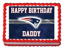 NEW ENGLAND PATRIOTS FOOTBALL edible cake image topper decoration frosting sheet