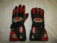 AKITO MERCURY PLUS BLACK / RED / RED LEATHER WINTER MOTORCYCLE GLOVES