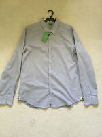 Hugo BOSS GREEN - Casual Shirt - Blue with stripe SLIM FIT  - Size XL