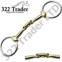 Lozenge Double Jointed Snaffle Mouth Bit - Mouthpiece - German Silver