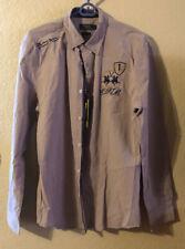LA MARTINA Men's shirt size L Brown Beige New!