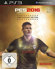 Pro EVOLUTION SOCCER 2016-ANNIVERSARY EDITION PES 2016 ps3 PLAYSTATION 3 NUOVO + OVP