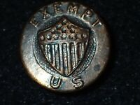 WWI US War Service Exempt - Collar Lapel Button Back Type 'Whitehead Hoag' RARE