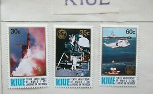 1979 NIUE 10th ANNIVERSARY of MAN's LANDING on the MOON 3x STAMPS MINT
