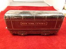 #19 of 26, OLD VTG ANTIQUE MODEL RAILROAD TRAIN CAR, ART DECO NEW YORK CENTRAL