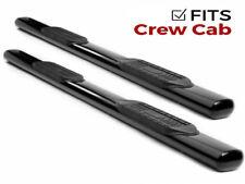 """Ionic 6"""" Black Nerf Bars 1999-2016 Ford Super Duty F250 F350 Crew Cab"""