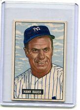 1951 Bowman Baseball Card Hank Bauer New York Yankees Near Mint # 183