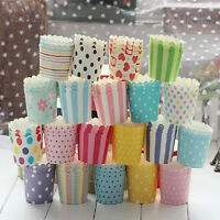 New 50pcs Disposable Cake Baking Paper Cup Cupcake Muffin Cases fit Home Party
