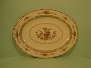 ROYAL DOULTON HAMILTON PATTERN TC1090, OVAL SERVING PLATTER/MEAT PLATE 1ST QLTY