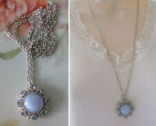 Vintage Avon Necklace 1974 MOON MAGIC Blue Moonstone Blue Sapphire Crystals