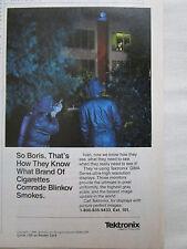 11/1988 PUB TEKTRONIX ESPIONNAGE CIA KGB SPY ESPION IVAN BORIS GMA SERIES AD