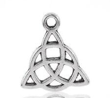 KUS 50 Amulette Triquetra Keltisch Dreiheitsknoten Charms Anhänger für Kette
