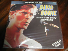 DAVID BOWIE JOHN I'M ONLY DANCING MAXI 45 DISCO MIX ETAT NEUF