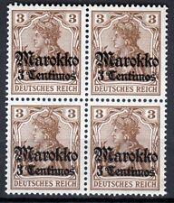 Schöner 4-er Block - Deutsches Reich - Marokko - postfrisch**