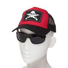 iShades Boy's Trucker Cap w Integrated Flip-Up/Down Sunglasses Mesh Back Red/Bla