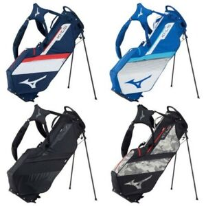 2021 Mizuno Mens K1-LO Stand Golf Bag Dual Strap Carbon Fibre 4 Way Divider