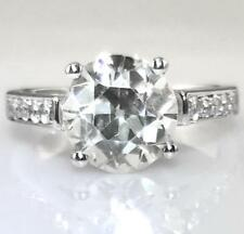 Certified 2.56ct Sought After Antique Round Old Cut Diamond 18ct White Gold Ring