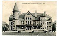 Ogdensburg NY - EXECUTIVE BUILDING AT STATE HOSPITAL - Postcard Insane Asylum
