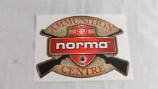 "NEW Norma Ammunition Centre Sticker Decal 6"" x 4-3/16"""