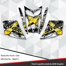 SKI-DOO REV MXZ SNOWMOBILE SLED WRAP GRAPHICS STICKER DECAL KIT 03-07 sl6607-C