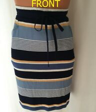 MAX STUDIO MULTI COLOR ELASTIC WAIST WITH DRAWSTRING SKIRT SIZE S NEW WITH TAG