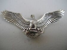 Vintage '79 Sterling Silver 3D Flying Eagle Bass Fishing Pendant