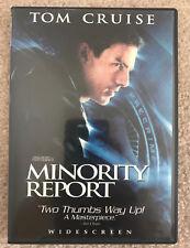 Minority Report Dvd 2002 2 Discs Widescreen Tom Cruise Steven Spielberg Sci Fi