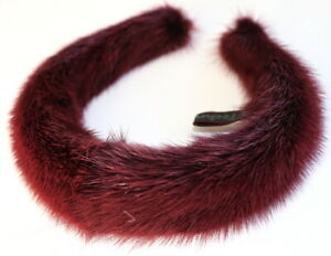 Mink Headband Fur Neck Jewelry Chain Craw - Band Alice Hair Jewelry Dark Red