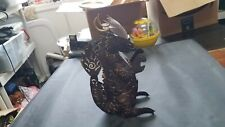 Cool Handmade Asian Black Metal Dragon with Scales,Claws and Tail Black & Gold