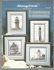 LIGHTHOUSE LANDMARKS counted cross stitch pattern book, 8 charts
